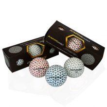 Kaede Pro Soft Distance Golfbälle 3 Farben Champagner Pink Blau Silber 3er Pack