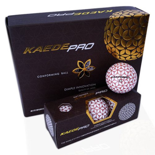 Kaede Pro Soft Distance Golfbälle Farbe Champagner Pink Weiß 12er Pack