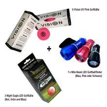 FromDuskTillDawnLady Night Eagle LED Golfbälle Vision UV Pink Nite Hawk Golfballfinder Bunt