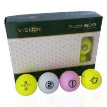 TestTheVision UVee-R Type Pro Soft Tour Golfbälle Gelb Weiß Pink 12er Box