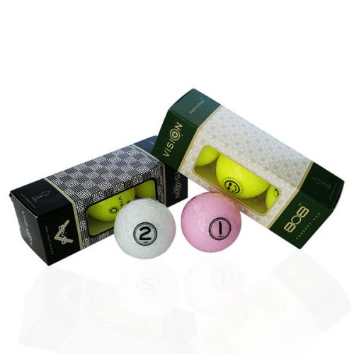 TestTheVision UVee-R Type Pro Soft Tour Golfbälle Gelb Weiß Pink 3er-Box