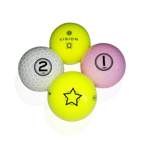 TestTheVision UVee-R Type Pro Soft Tour Golfbälle Gelb Weiß Pink