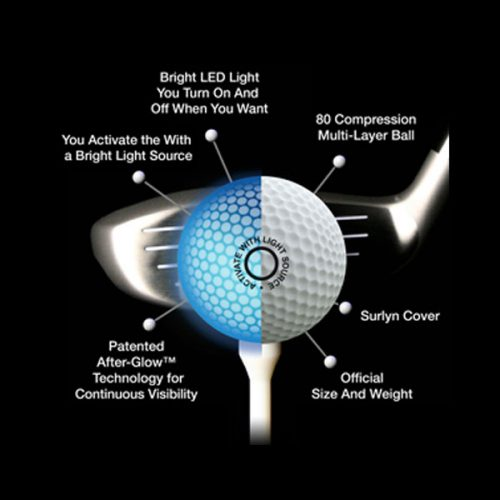 Night Eagle LightUp Golfbälle Technologie Lichtaktiviert