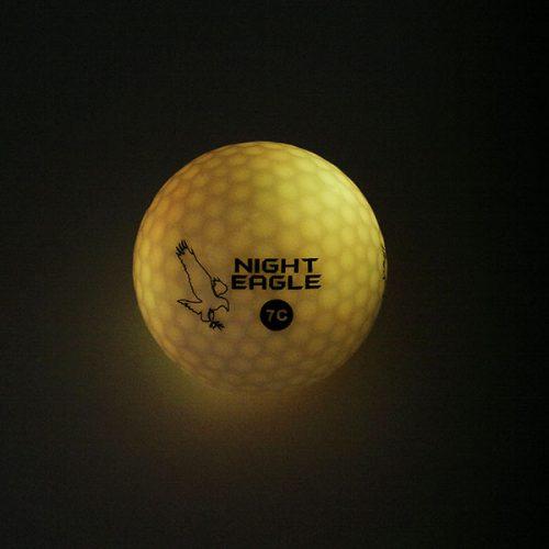 Night Eagle LightUp LED 7c Golfbälle 1Ball 7 Farben Gelb