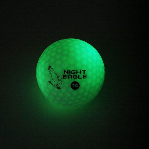 Night Eagle LightUp LED 7c Golfbälle 1Ball 7 Farben Grün