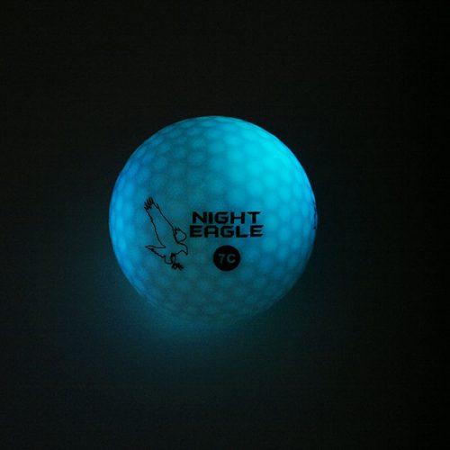 Night Eagle LightUp LED 7c Golfbälle 1Ball 7 Farben Hellblau