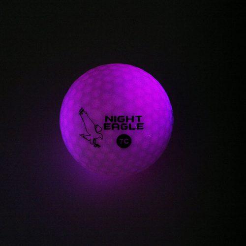 Night Eagle LightUp LED 7c Golfbälle 1Ball 7 Farben Lila
