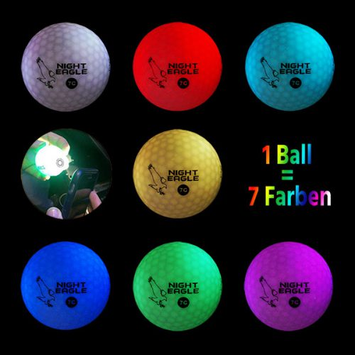 Night Eagle LightUp LED 7c Golfbälle 1Ball 7 Farben Montage