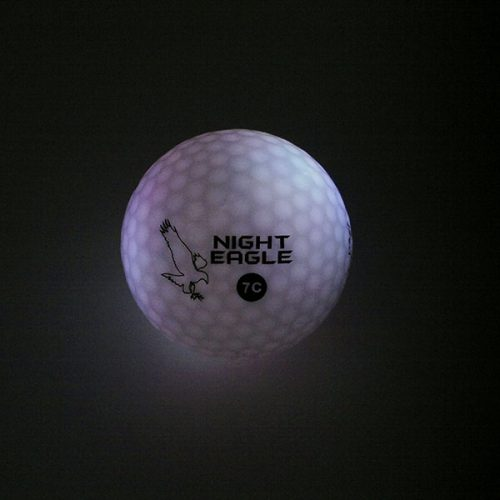 Night Eagle LightUp LED 7c Golfbälle 1Ball 7 Farben Weiß