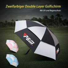 PGM Golfschirm Automatik 134cm Regen UV Schutz Double Layer Mehrfarbig alle 3 Farbkombinationen