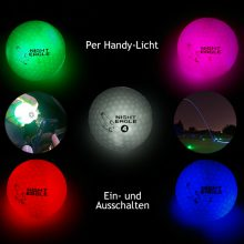 Night Eagle LightUp LED Golfball 6er-Box alle Farben lichtaktivierbar