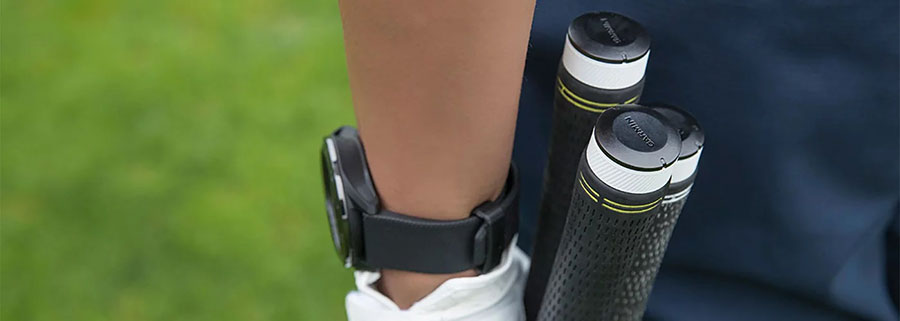 Garmin Approach S40 GPS Golfuhr CT10 Golfschlägersensoren am Schläger montiert