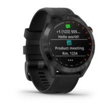 Garmin Approach S40 Premium GPS Golfuhr Schwarz Ansicht Front rechts