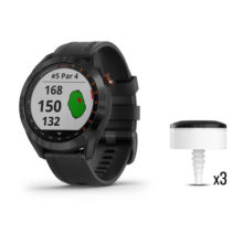 Garmin Approach S40 Schwarz + CT10 3er Set Bundle Front beide Produkte