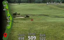 Garmin Approach Z80 GPS Laser Entfernungsmesser Blick nach vorne