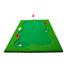 Golf Puttingmatte Set 300x150cm Kunstrasen Ansicht vorne