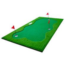 Golf Puttingmatte Set 300x150cm Kunstrasen Ansicht vorne rechts