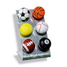 Color Box Magballs magnetischer Golfball 6 Sport Motive auf Metallaussteller