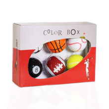 Color Box Magballs magnetischer Golfball 6 Sport Motive in Verpackung