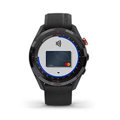 Garmin Approach S62 GPS Golfuhr Ansicht Garmin Pay