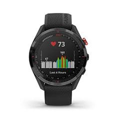Garmin Approach S62 GPS Golfuhr Ansicht Herzfrequenz