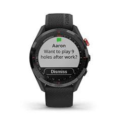 Garmin Approach S62 GPS Golfuhr Ansicht Nachrichten