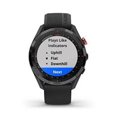 Garmin Approach S62 GPS Golfuhr Ansicht Playslike Distanz