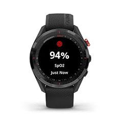 Garmin Approach S62 GPS Golfuhr Ansicht Sauerstoff Blut