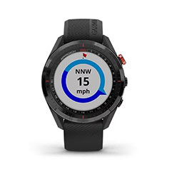 Garmin Approach S62 GPS Golfuhr Ansicht Windgeschwindigkeit