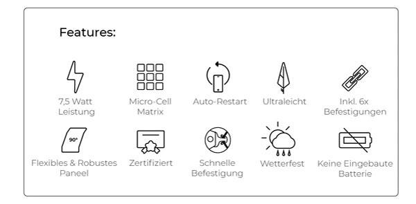 Sunnybag LEAF PRO Solarpaneel flexibel Features