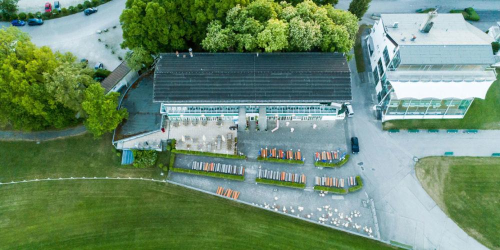 Golfclub München Riem Clubhaus von oben größer