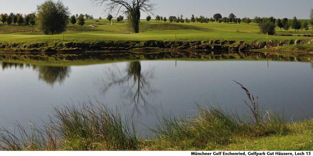 Münchner Golf Eschenried Golfpark Gut Häusern Loch 15