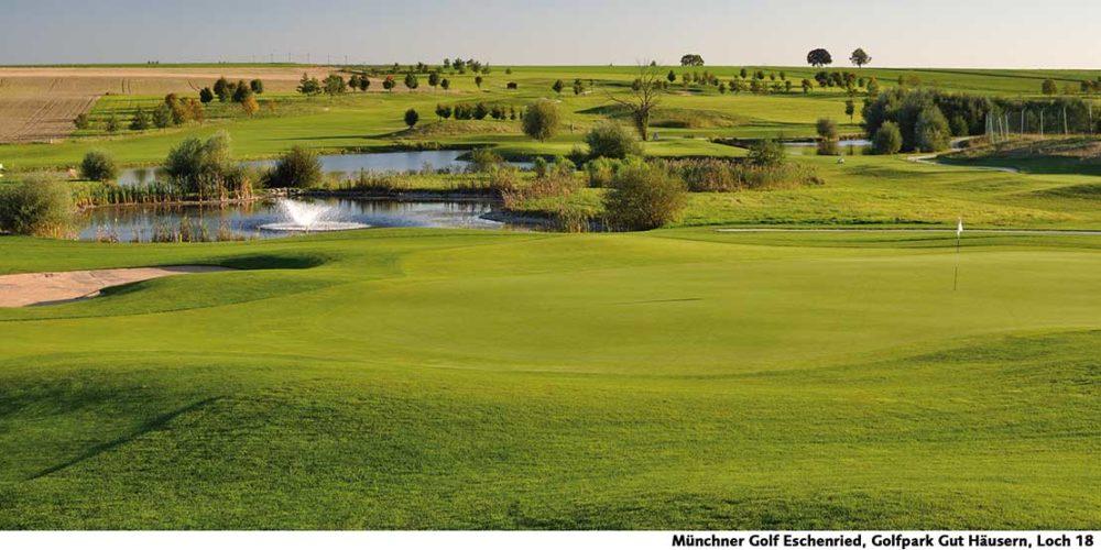 Münchner Golf Eschenried Golfpark Gut Häusern Loch 18