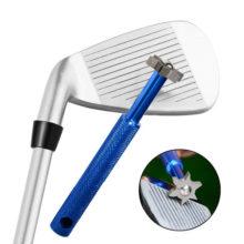 Groove Sharpener Rillenschärfer Blau Reinigung Golfschläger Lupe