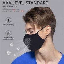 Mundschutz Maske Antibakteriell Silber Ionen AAA Standard Mann