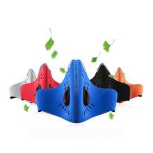 Neopren Mundschutz Maske Sport Atmungsaktiv verschiedene Farben Frontansicht
