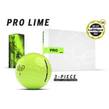 Vice Pro Neon Lime Golfbälle Ansicht Boxen und Golfball