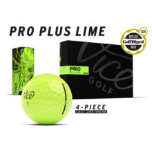 Vice Pro Plus Neon Lime Golfbälle Ansicht Boxen und Golfball