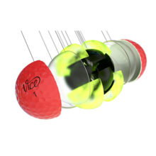 Vice Pro Plus Neon Red Golfbälle 4 Piece Konstruktion Cast Urethan Schale