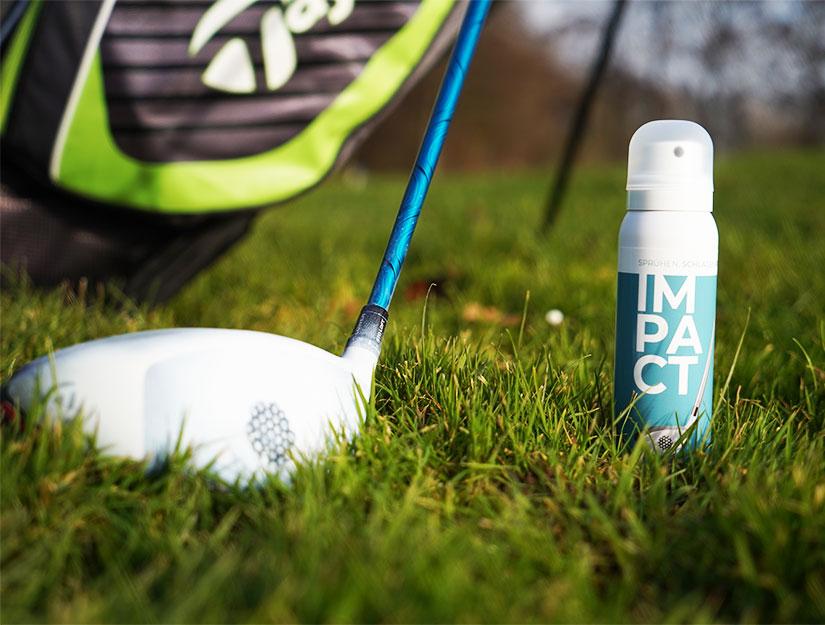 Impact Spray Sweetspot Trainingshilfe Treffpunkt Schlagfläche Driver + Produkt breit