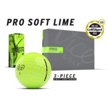 Vice Pro Soft Neon Lime Golfbälle Ansicht Boxen und Golfball