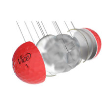 Vice Pro Soft Neon Red Golfbälle 3 Piece Konstruktion Cast Urethan Schale