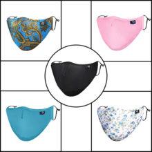 Maske Atemschutz 7 lagig mit Aktivkohlefilter modisch alle Farben