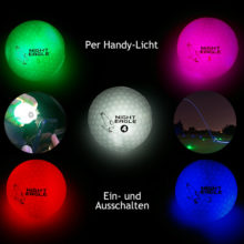 Night Eagle Light Up LED Golfball 6er Box alle Farben lichtaktivierbar