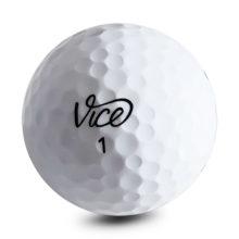 Vice Drive Golfbälle Weiß Ansicht Front