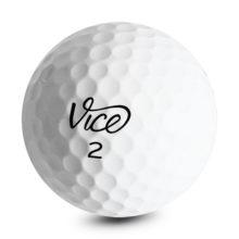 Vice PRO Golfbälle Weiß Ansicht Front