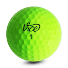 Vice PRO NEON LIME Golfbälle Gelb Ansicht Front