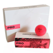 Vice PRO Neon Red Golfbälle Rot Ansicht 12er Box
