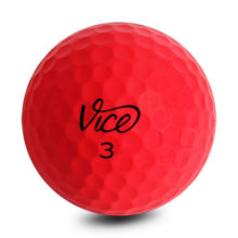 Vice PRO Neon Red Golfbälle Rot Ansicht Front