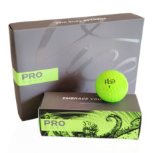 Vice PRO SOFT Neon Lime Golfbälle Gelb Ansicht 12er Box